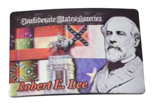 Lee And Confederate Flags Lenticular Moving Images Magnet